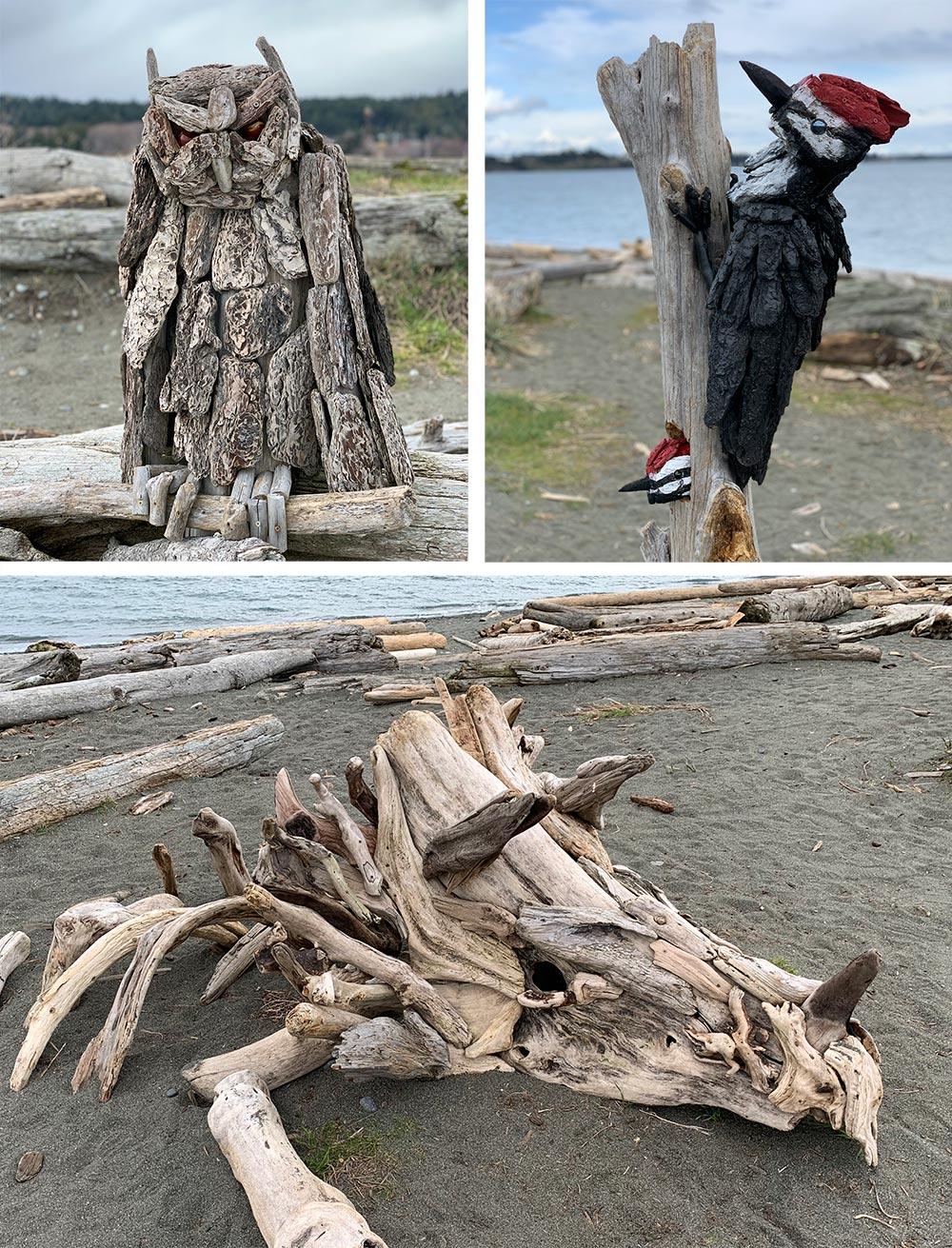 Colwood Lagoon Drift Wood Art